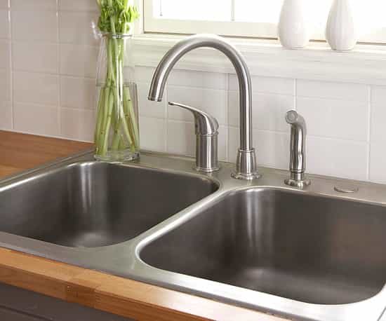 The kitchen sink faucet